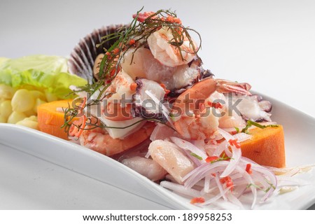 Ceviche peru stock photos images pictures shutterstock for Art of peruvian cuisine