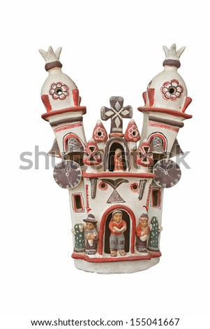 Peruvian traditional ceramic handcraft - stock photo