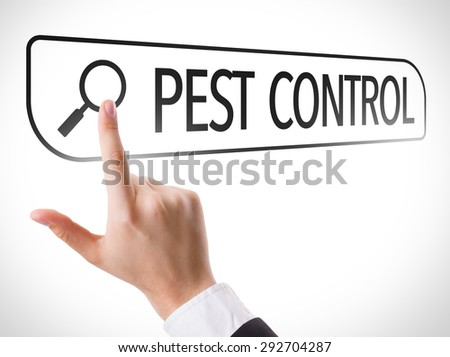 Pest Control written in search bar on virtual screen - stock photo