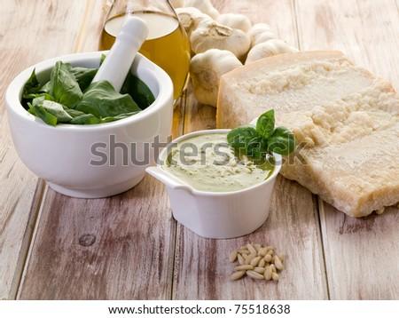 pesto ingredients - stock photo