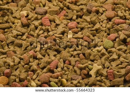 Pet food closeup - stock photo