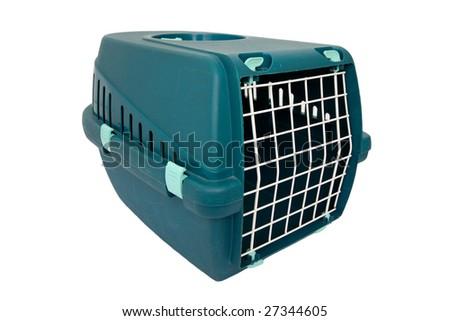 Pet transport box - stock photo