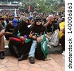 PETALING JAYA, MALAYSIA - MAY 25: Malaysian youth protest against the alleged fraudulent Malaysia 13th general election on May 25, 2013 in Padang Timur, Petaling Jaya, Malaysia. - stock photo