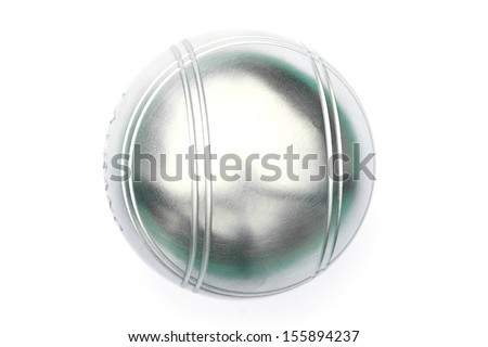 Petanque on white background - stock photo