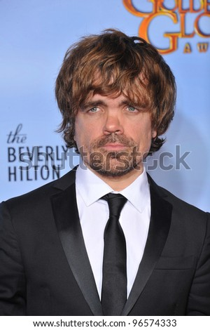 Peter Dinklage at the 69th Golden Globe Awards at the Beverly Hilton Hotel. January 15, 2012  Beverly Hills, CA Picture: Paul Smith / Featureflash - stock photo