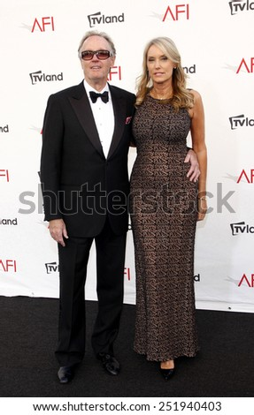 Peter Fonda and Parky Fonda at the 40th AFI Life Achievement Award Honoring Shirley MacLaine held at the Sony Studios in Los Angeles, United States, 070612. - stock photo