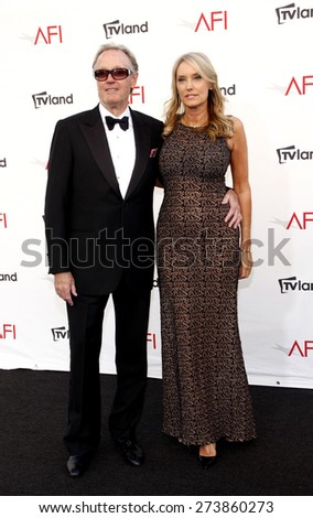 Peter Fonda and Parky Fonda at the 40th AFI Life Achievement Award Honoring Shirley MacLaine held at the Sony Studios in Los Angeles on June 7, 2012. - stock photo