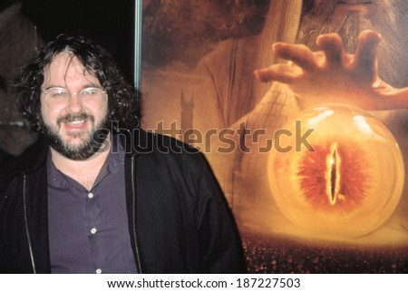 Peter Jackson at the premiere of LORD OF THE RINGS THE TWO TOWERS, 12/5/2002 - stock photo