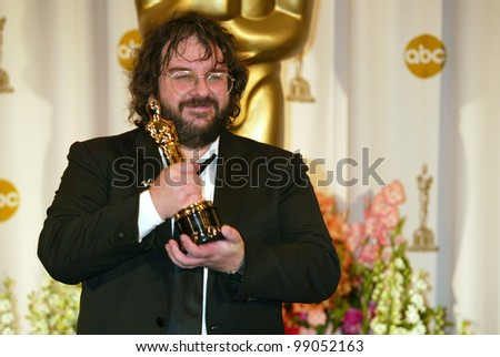 PETER JACKSON at the 76th Annual Academy Awards in Hollywood. February 29, 2004 - stock photo