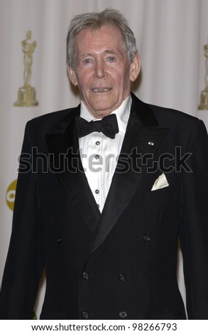 PETER O'TOOLE at the 75th Academy Awards at the Kodak Theatre, Hollywood, California. March 23, 2003 - stock photo