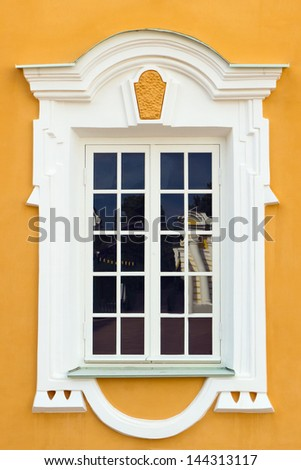 Peterhof Grand Palace exterior - window. Peterhof, Russia - stock photo