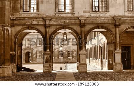 Peterhouse College, University of Cambridge, United Kingdom - stock photo