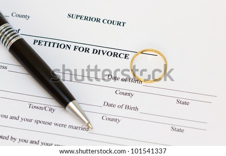 Petition for divorce paper - stock photo