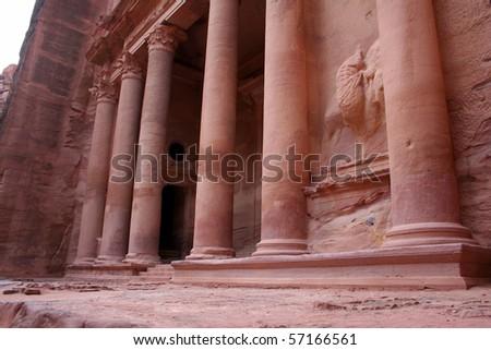 Petra in Jordan - stock photo