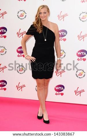 Petra Kvitova arriving for the WTA Pre-Wimbledon Party 2013 at the Kensington Roof Gardens, London. 20/06/201 - stock photo