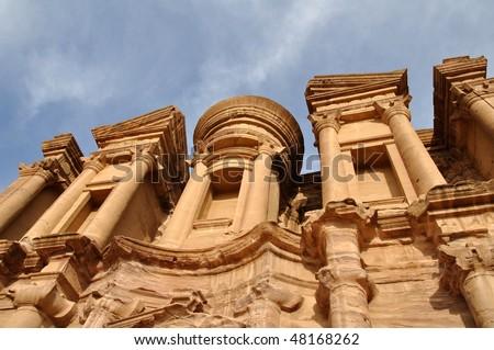 Petra monastery - stock photo