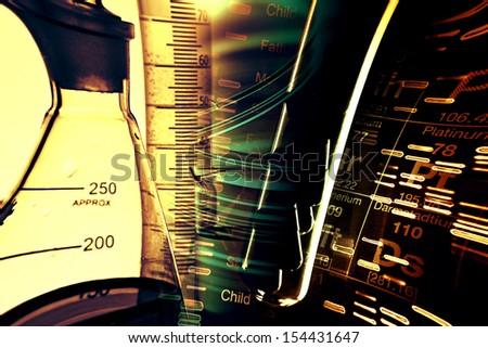 Petri dishes and pipette. Laboratory concept. - stock photo