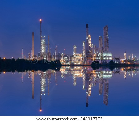 Petrochemical industry power station in Thailand - stock photo