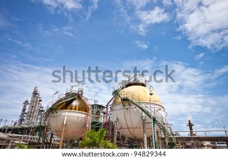 petrochemical plant area - stock photo