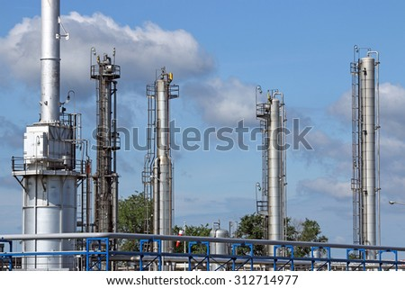 petrochemical plant refinery industry zone - stock photo