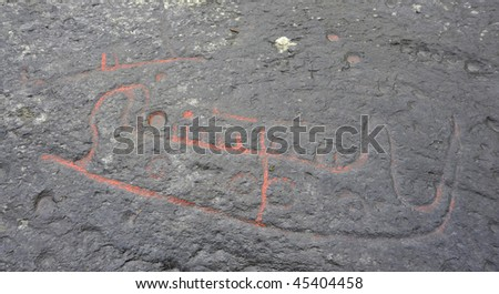 Petroglyphs - stock photo