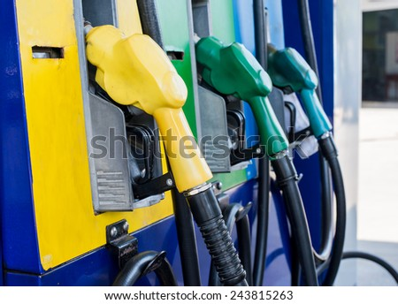 petrol filling station - stock photo