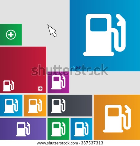 Petrol or Gas station, Car fuel icon sign. buttons. Modern interface website buttons with cursor pointer. illustration - stock photo