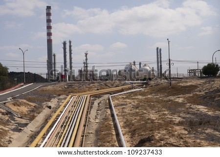 Petroleum and gas industry - stock photo