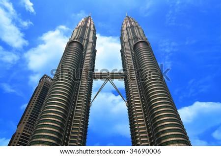 Petronas Towers in Kuala Lumpur - stock photo
