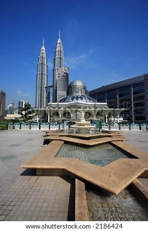 Petronas Twin Towers at Kuala Lumpur, Malaysia. - stock photo