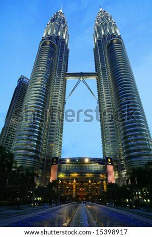Petronas Twin Towers in Malaysia, Kuala Lumpur - stock photo