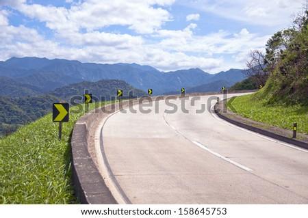 Petropolis road - Rio de Janeiro - Brazil - stock photo