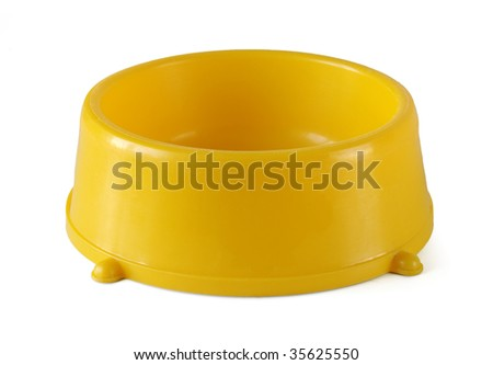 pets bowl isolated on white - stock photo