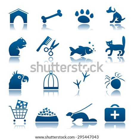 Pets icon set - stock photo