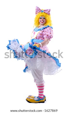 Petticoat Clown - stock photo