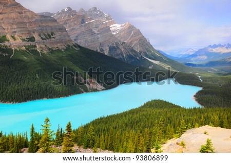 Peyto Lake, Banff National Park, Canada - stock photo