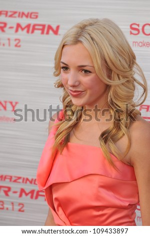 "Peyton List at the world premiere of ""The Amazing Spider-Man"" at Regency Village Theatre, Westwood. June 29, 2012  Los Angeles, CA Picture: Paul Smith / Featureflash - stock photo"