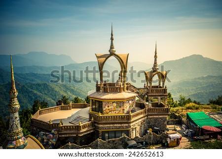 Pha Sorn Kaew Temple, Thailand - stock photo