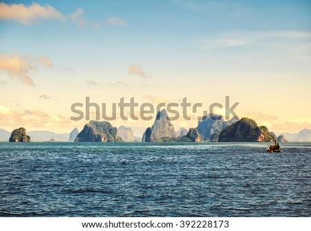 Phang Nga Bay, Thailand - stock photo