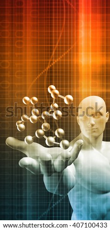 Pharmaceutical Industry and Biochemistry as a Science Concept 3D Illustration Render - stock photo