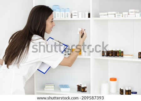 Pharmacist at work. - stock photo