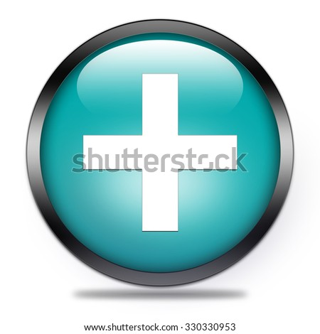 pharmacy button isolated   - stock photo