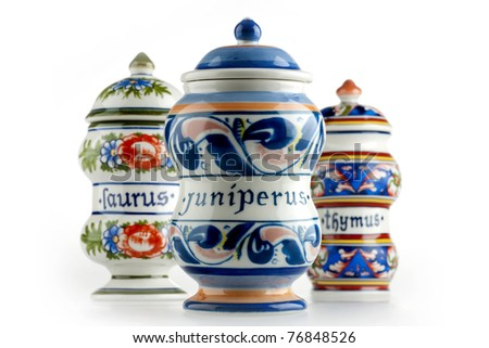 pharmacy jars - stock photo