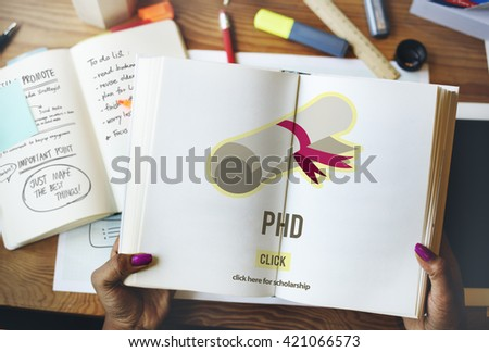 PhD Doctor of Philosophy Degree Education Graduation Concept - stock photo