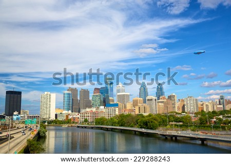Philadelphia downtown, Pennsylvania, USA - stock photo