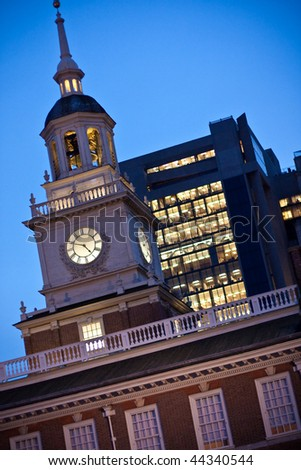 Philadelphia Independence Hall - stock photo