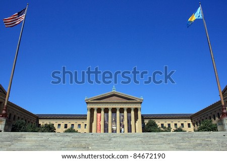 Philadelphia Museum of Art on a clear day - stock photo