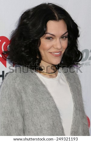 PHILADELPHIA, PA - December 10, 2014: Jessie J attends the Q102's Jingle Ball at the Wells Fargo Center on December 10, 2014 in Philadelphia.  - stock photo