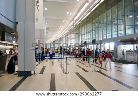 PHILADELPHIA, PA- 22 JUNE 2015- Terminal A at the Philadelphia International Airport (PHL). - stock photo