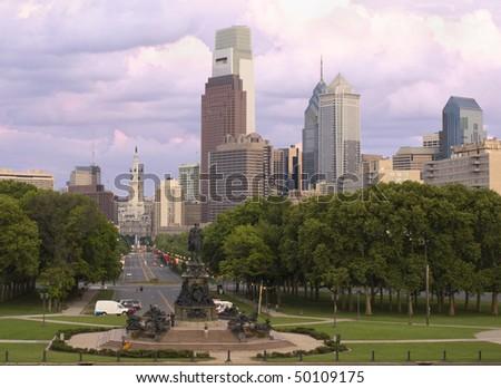 Philadelphia skyline, Pennsylvania - stock photo